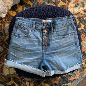 MADEWELL High-Rise Denim Shorts